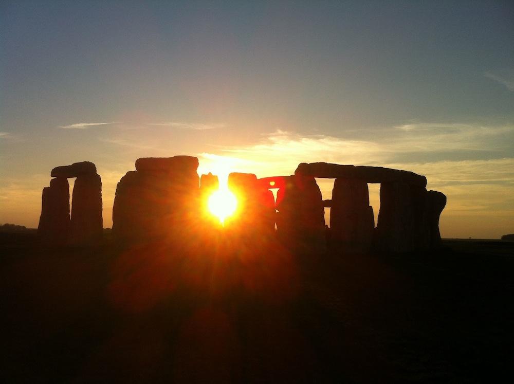 Stonehenge at sunset, March 2014